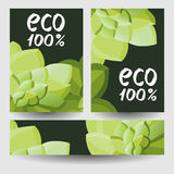 Set of eco backgrounds Stock Images