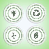 Set of Eco Badges Stock Photos