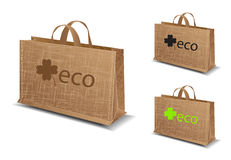 Set of eco bag illustration Royalty Free Stock Photography