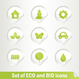 Set of Eco and Bio icons. Different Eco bio  symbols,  illustration EPS 8 Stock Photos