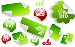 Set of eco and bio stickers Royalty Free Stock Images