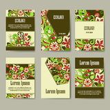 Set of eco brochures and flyers. royalty free illustration