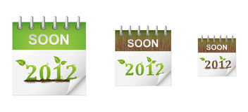 Set of eco calendars Royalty Free Stock Photo