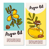 Set of eco flyers design layouts in natural colors. Royalty Free Stock Photos