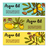Set of eco flyers design layouts in natural colors. Stock Images