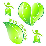Set of Eco friendly concept Royalty Free Stock Images