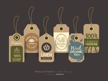 Set of eco friendly fabric cloth tag labels collection design Royalty Free Stock Image