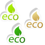 Set of eco friendly signs. Stock Photo