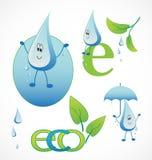 Set of eco icons Stock Photos