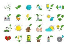 Set of eco  icons Royalty Free Stock Photos