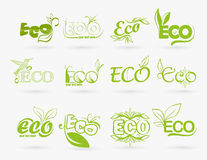Set of eco icons Royalty Free Stock Photography