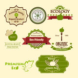 Set of eco icons Stock Photo