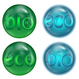 Set of eco icons Stock Photography