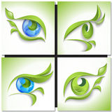 Set of eco icons. Look green Royalty Free Stock Images