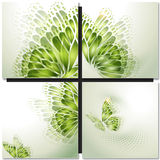 Set of eco icons. Look green Royalty Free Stock Photography