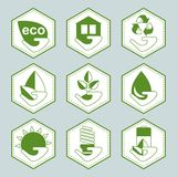 Set of eco icons Stock Images