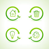 Set of eco icons. Stock vector Royalty Free Stock Photo