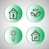 Set eco Ikonen Lizenzfreies Stockbild