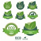 Set Eco Kennsätze Lizenzfreies Stockbild