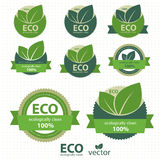 Set Eco Kennsätze vektor abbildung