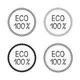 Set eco label sticker Stock Image