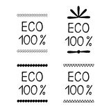 Set eco label sticker Stock Photos