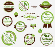 Set of Eco labels Stock Photos