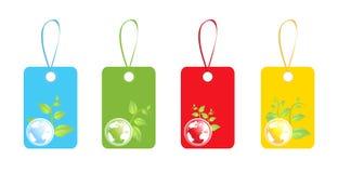Set of eco labels stock photo