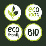 Set of eco labels Royalty Free Stock Photo