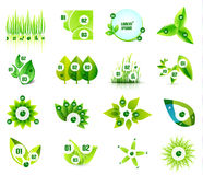 Set of eco leaf infographic design templates Royalty Free Stock Image