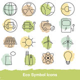 Set of eco line icons Stock Image
