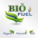 Set  Eco logos, bio fuel icons Royalty Free Stock Photography