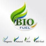 Set  Eco logos, design bio fuel elements Stock Photography