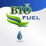 Set  Eco logos, design bio fuel elements Royalty Free Stock Photography