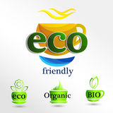 Set  Eco logos, design template elements, natural icon. Organic icon Royalty Free Stock Photography