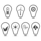 Set of eco logos Stock Image