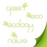 Set of eco logos on paper. Royalty Free Stock Image