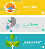 Set of eco nature flat design concepts, banners Royalty Free Stock Image