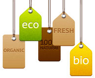 Set of eco and organic labels Royalty Free Stock Image