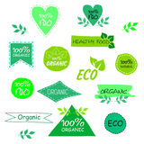 Set of eco signs. A set of ecological signs of a healthy diet Royalty Free Illustration