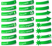 Set of eco tags Royalty Free Stock Images