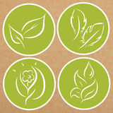 Set of eco theme badges, icons, sticker layouts.  Royalty Free Stock Photos
