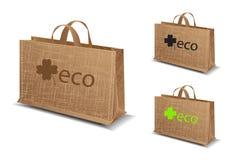 Set eco torby ilustracja Fotografia Royalty Free