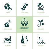 Set of eco vector icons in flat style. royalty free illustration