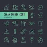 Set eco wektorowe ikony w mieszkanie stylu ilustracja wektor