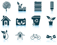 Set of ecological icon Stock Photography