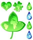 Set of Ecological Icons Royalty Free Stock Photos