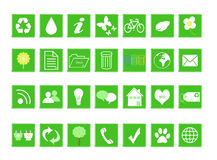 Set of ecological icons Royalty Free Stock Photo