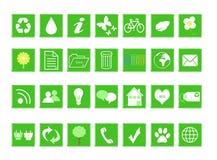 Set of ecological icons Royalty Free Stock Photo