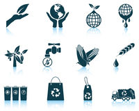 Set of ecological icons Stock Photography